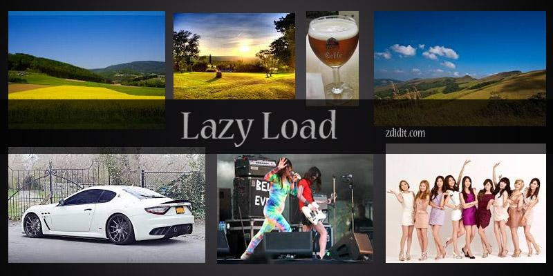 Lazy Load images plugin for WordPress