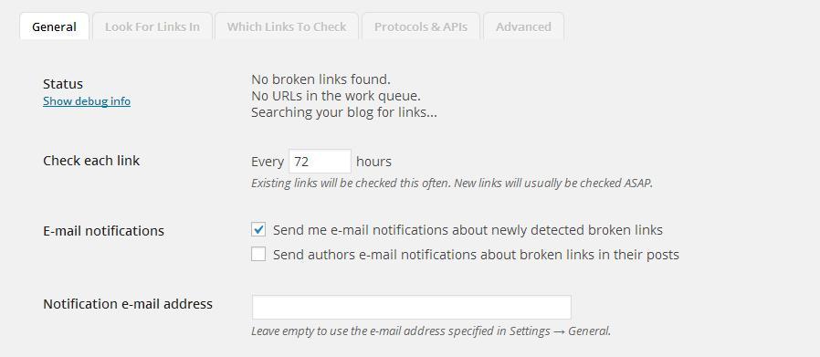 broken links for wordpress