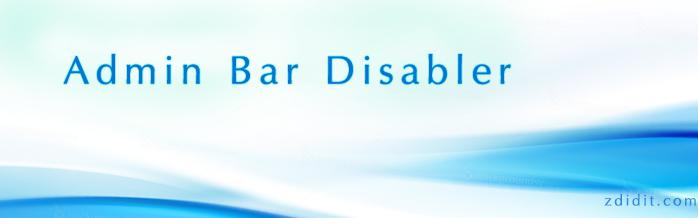 admin bar disabler
