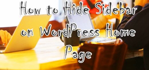hide-sidebar-on-wordpress-home-page