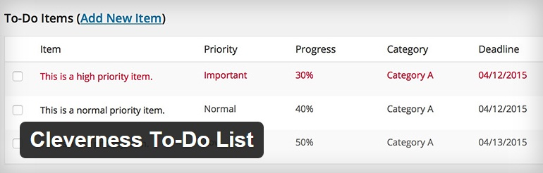 cleverness to-do-list-wordpress-plugin