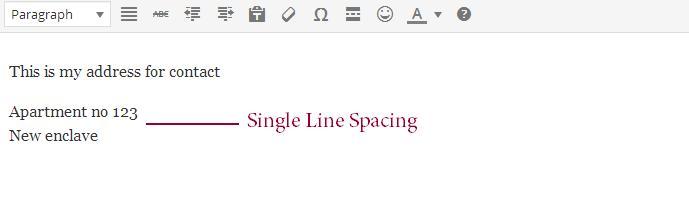 Add-single-line-spacing-in-WordPress