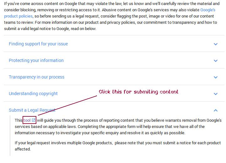google-dmca-tool-content-removal