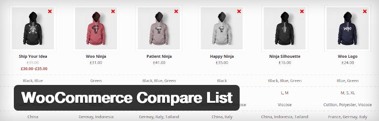 woocommerce-compare-list