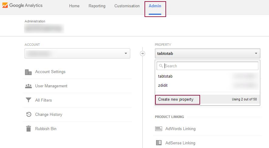 add-google-analytics-create-new
