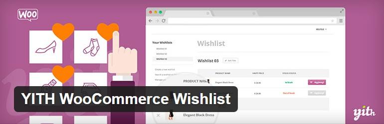 yith-woocommerce wishlist plugin-wordpress