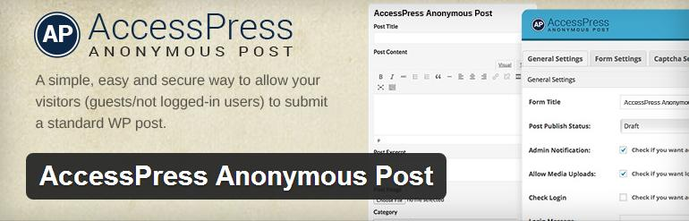 accesspress-anonymous-post