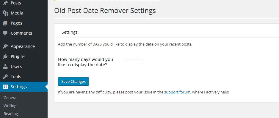 old post date remove